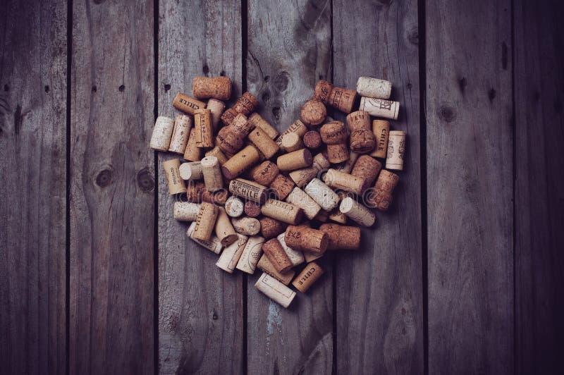 Cork heart stock photos
