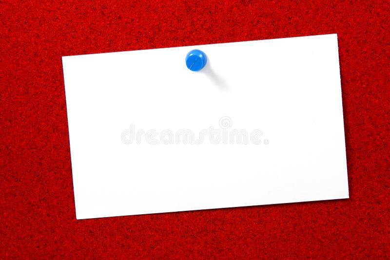cork karty pusta pozioma nadmiernej czerwony zdjęcie stock