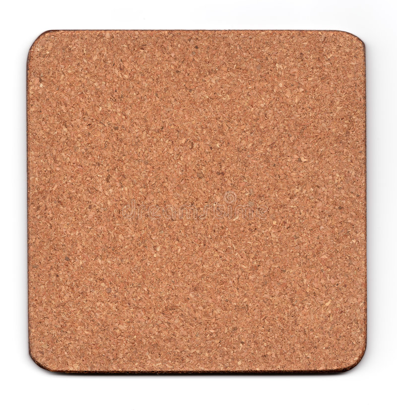 Cork Mat Isolated On White Stock Photography