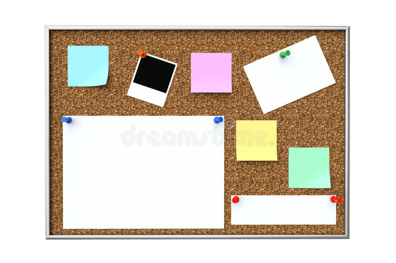 Cork message board royalty free illustration