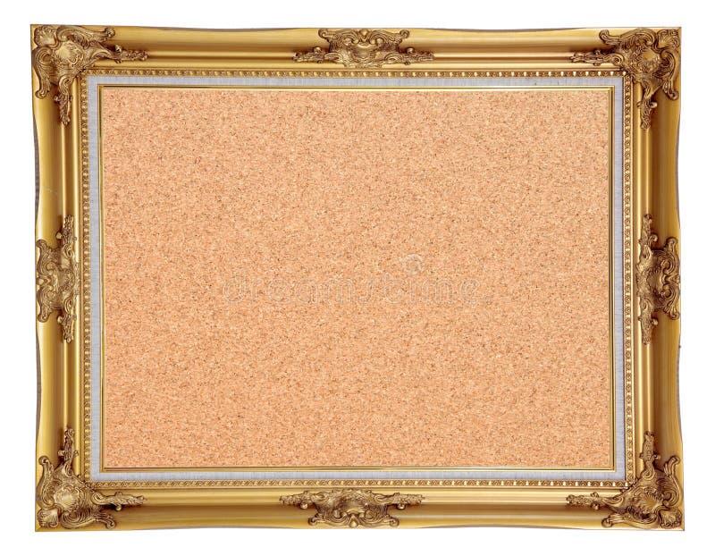 Cork Notice Board With Vintage Frame Stock Image - Image of cork ...