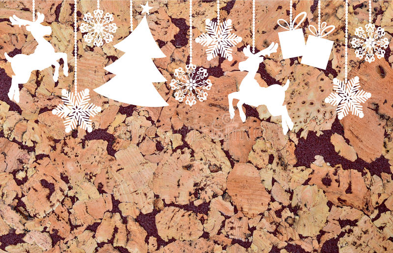 Cork patroon vector illustratie