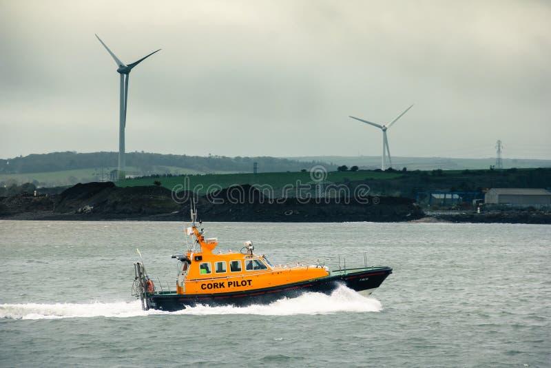Cork Pilot Failte Cobh irland lizenzfreies stockbild