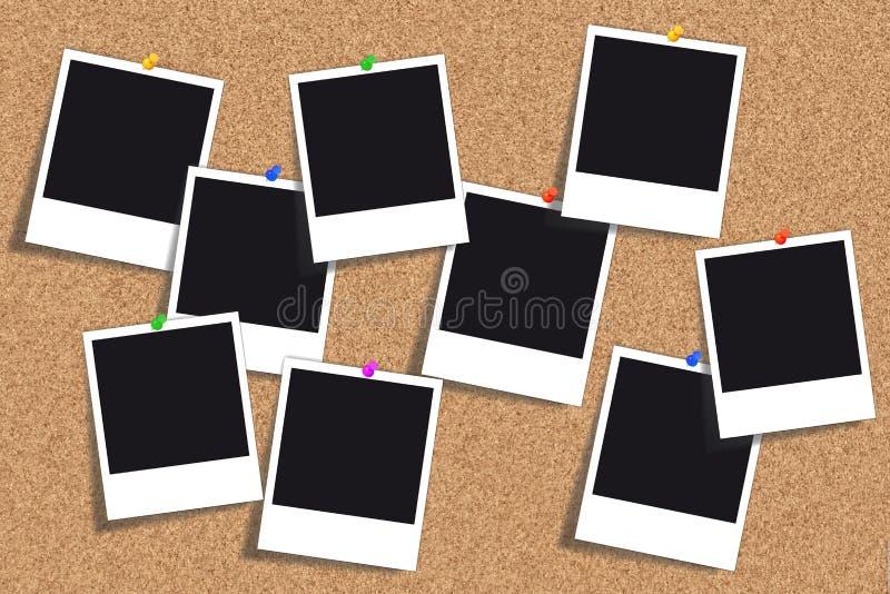 Cork raad - het prikbord van - Pinboard vector illustratie