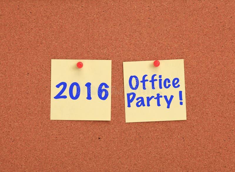 Cork raad met geschreven het bureaupartij van 2016 stock foto