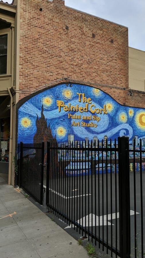 Cork Sacramento Mural pintado imagem de stock