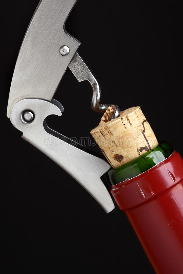 Download Cork-screw stock photo. Image of close, details, alcohol - 18939976