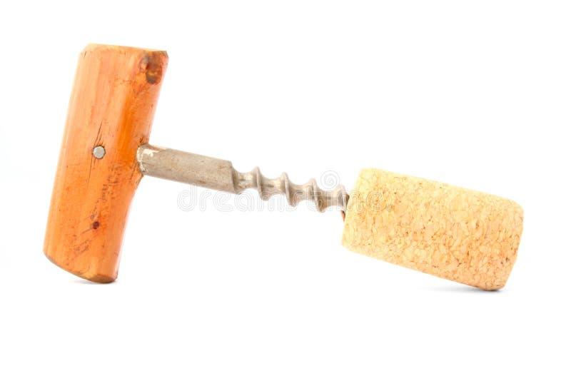 Download Cork-screw no branco imagem de stock. Imagem de isole, cozinha - 525963