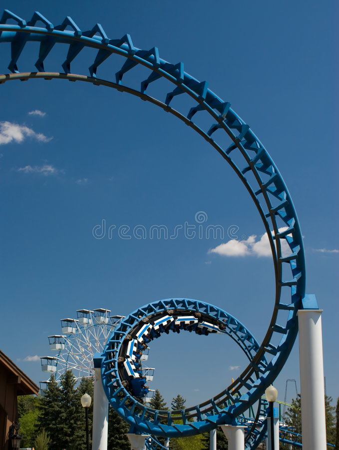Cork-Screw Rollercoaster royalty free stock image
