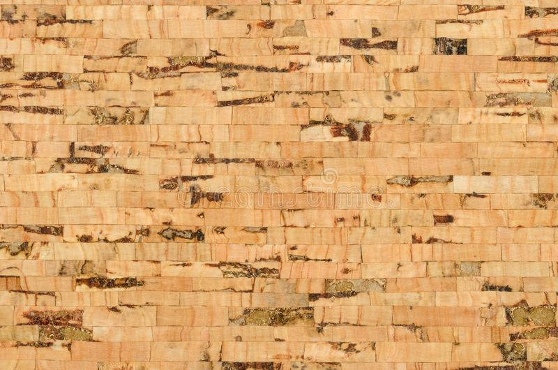 Cork sheet surface with parallel layers, macro photo royalty free stock photography