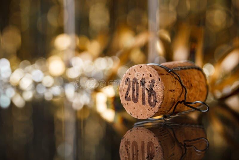 Cork van Champagne stock foto's