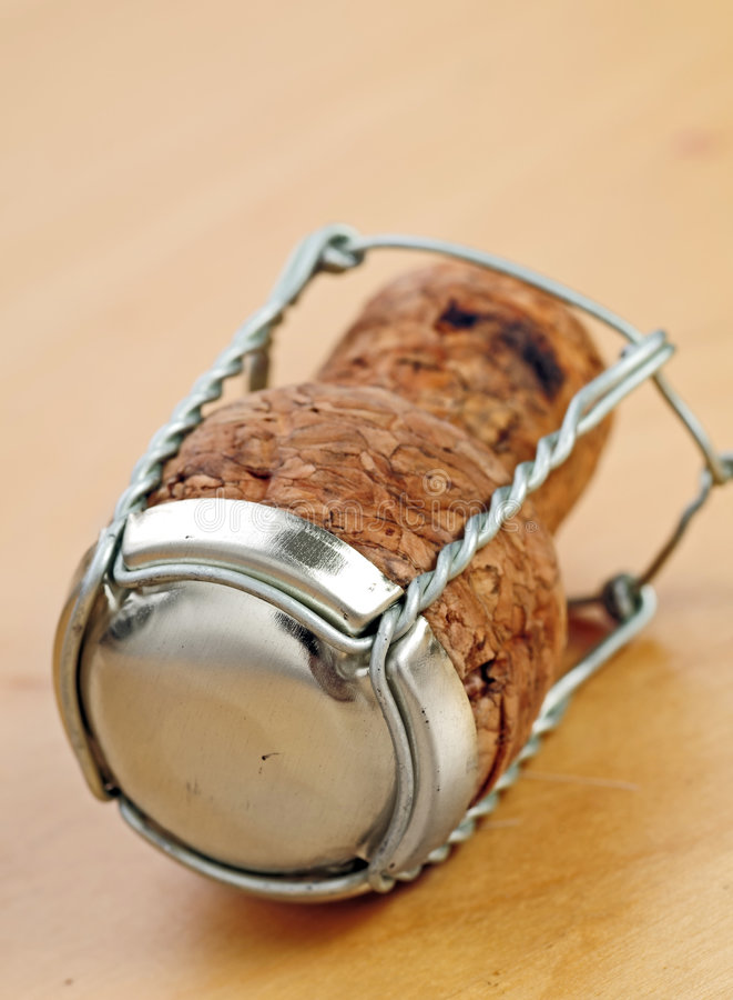Cork van Champagne royalty-vrije stock afbeelding