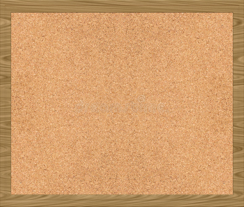 Cork van Corkboard noticeboard stock illustratie