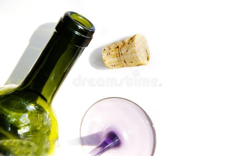 Cork van de fles Glas stock foto