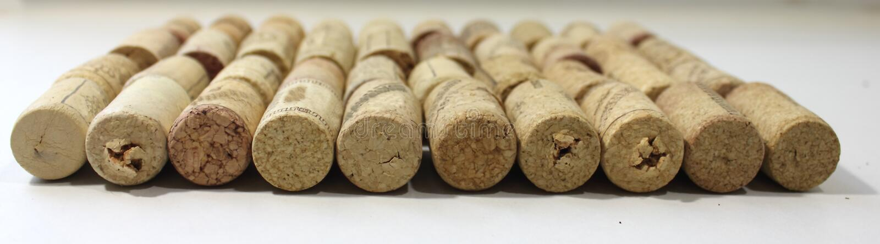 Cork van wijn stock foto's