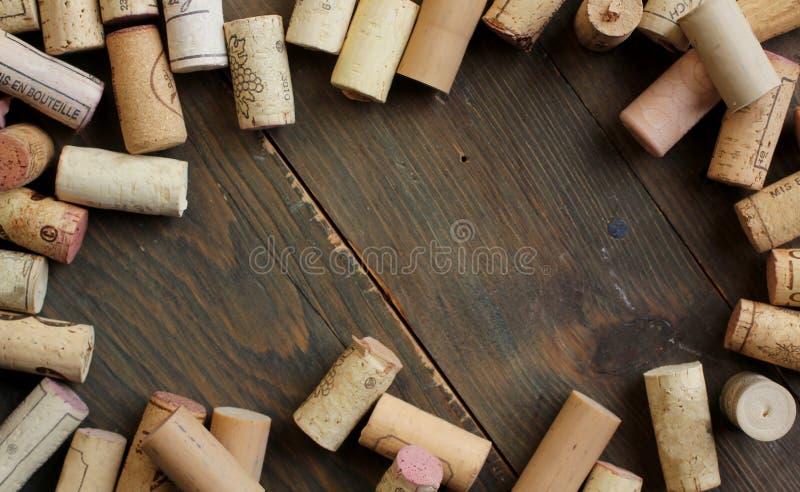 Cork wijn stock foto