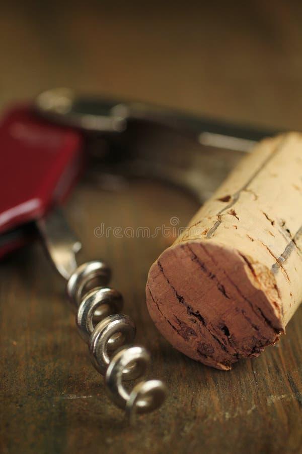 Cork wine and corkscrew
