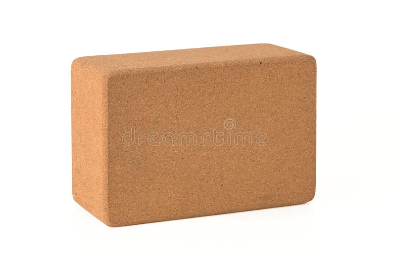 Cork Yoga Blocks Eco Friendly isolou-se no fundo branco imagem de stock royalty free