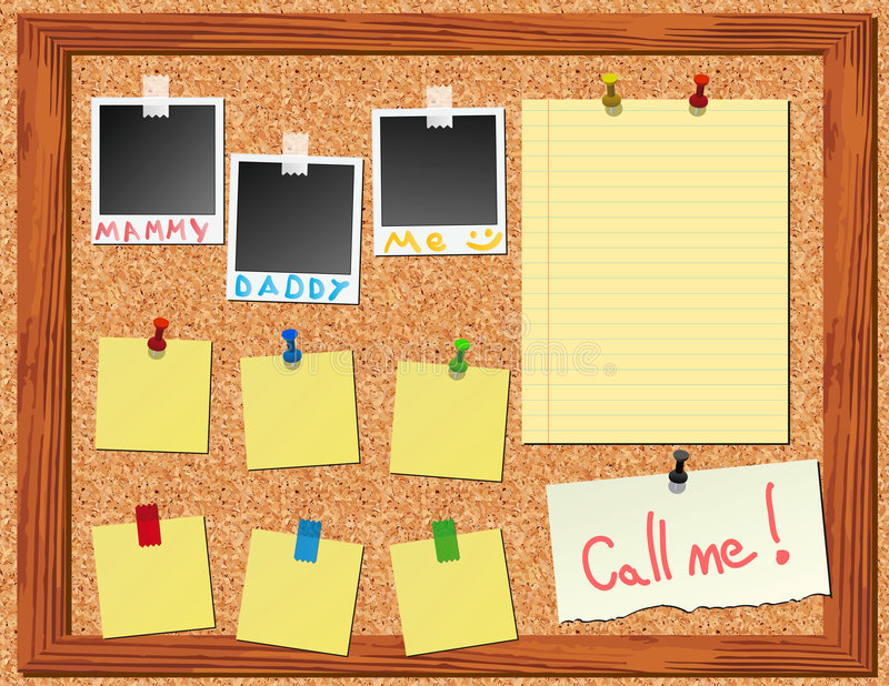 corkboard αυτοκόλλητες ετικέττ στοκ εικόνες με δικαίωμα ελεύθερης χρήσης