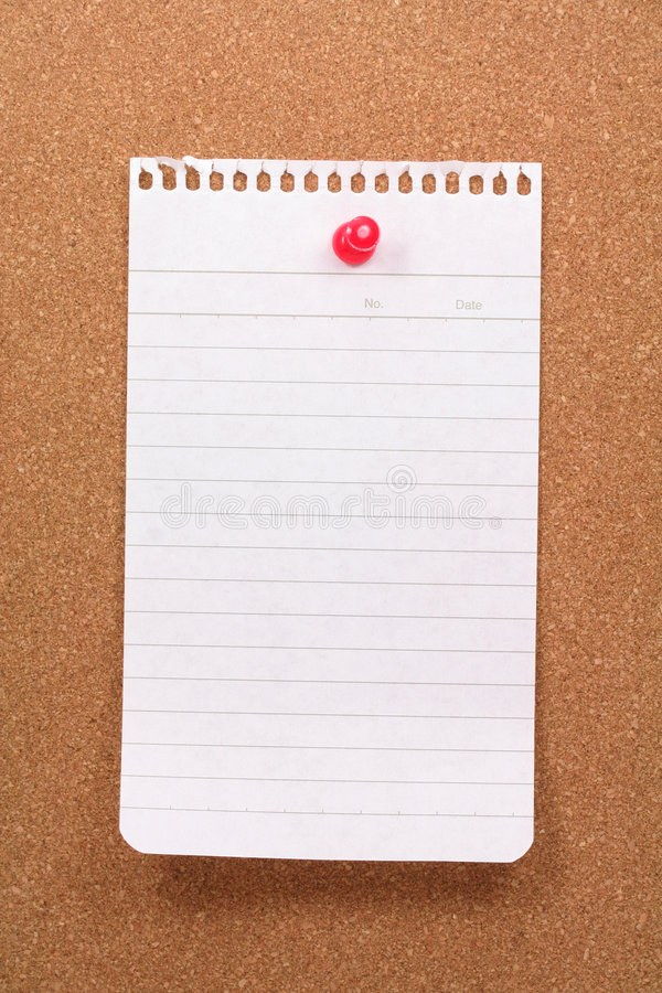 Free Corkboard And Notepaper Stock Image - 1488381