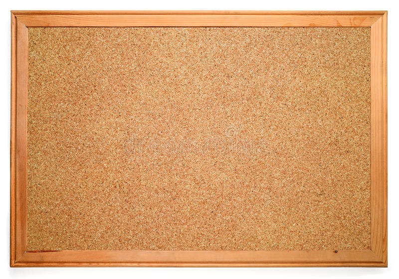 Corkboard blanc images libres de droits