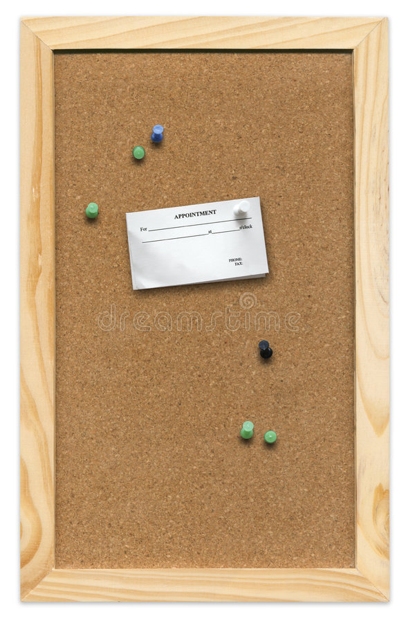 Corkboard con la tarjeta imagenes de archivo