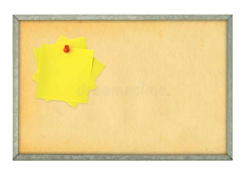 Corkboard e note adesive fotografia stock