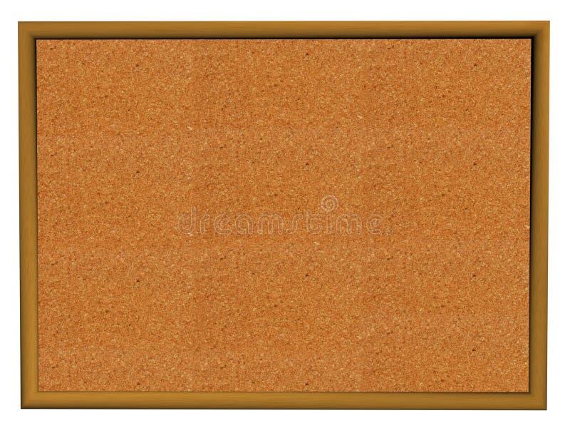 Corkboard em branco isolado ilustração do vetor