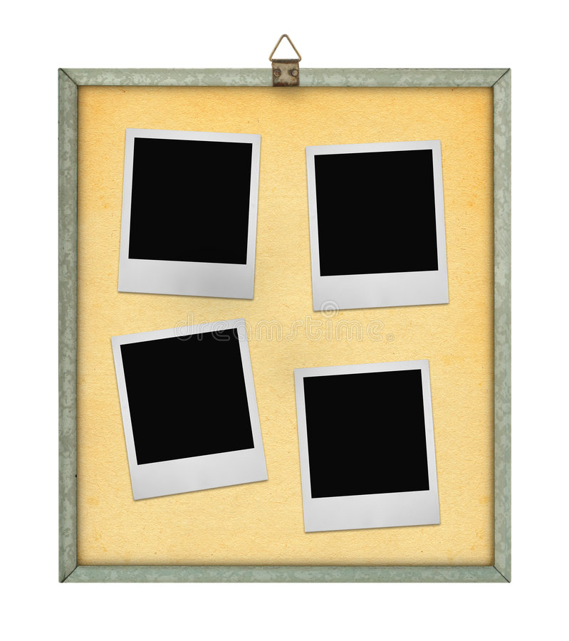 Download Corkboard With Four Photo Frames Stock Photo - Image: 4168382