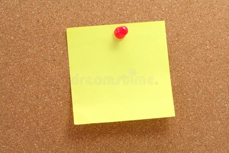 corkboard notepaper fotografia stock