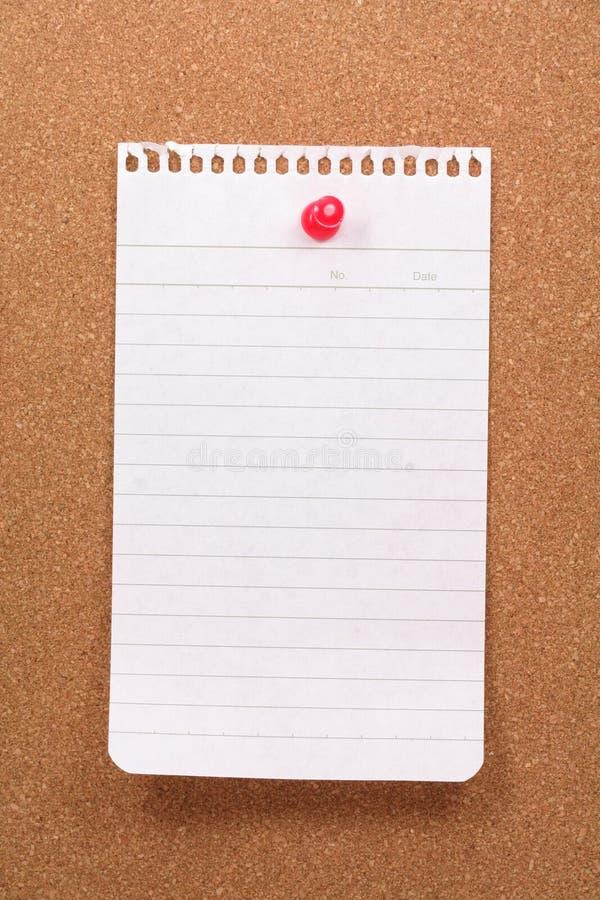 corkboard notepaper obraz stock