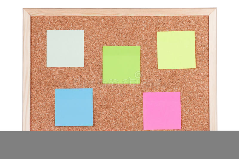 Download Corkboard with Notes stock photo. Image of empty, document - 12608904