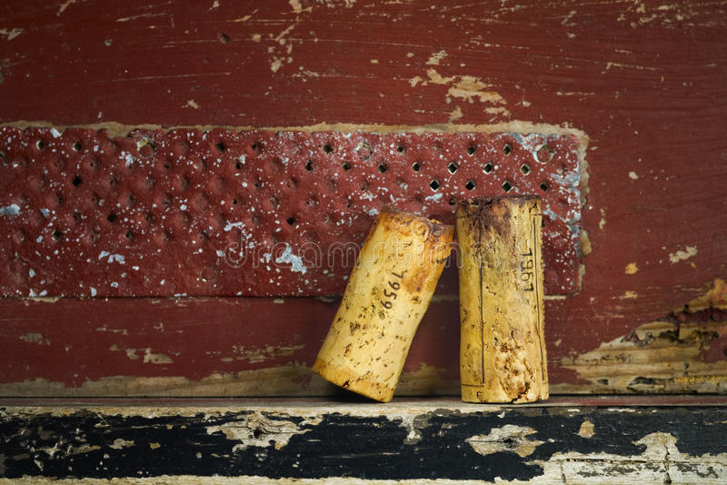 Corke del vino de vinos rojos famosos imagen de archivo libre de regalías