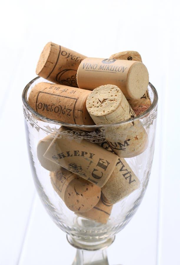 corks glass wine arkivfoto