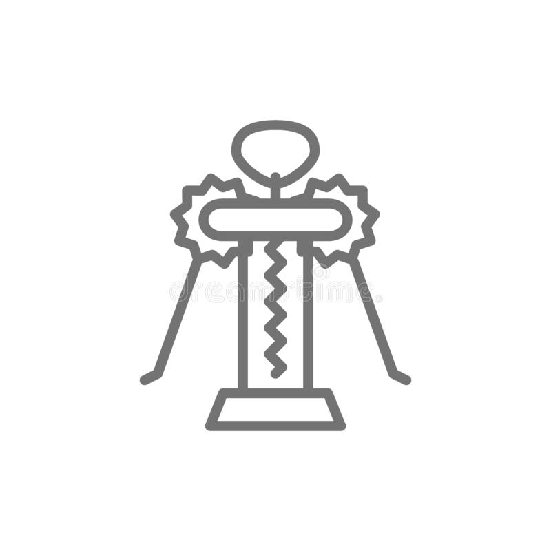 Corkscrew butterfly line icon. royalty free illustration