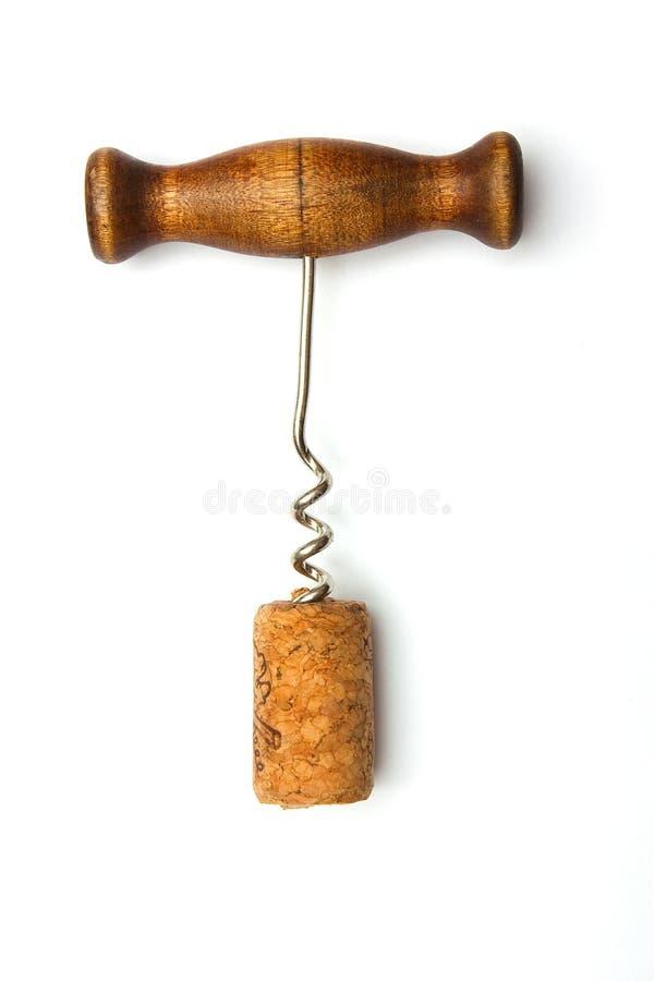 Corkscrew com os tampões de uma montanha fotografia de stock