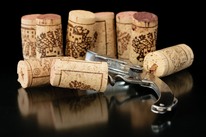 Download Corkscrew with corks 2 stock photo. Image of celebration - 7647458