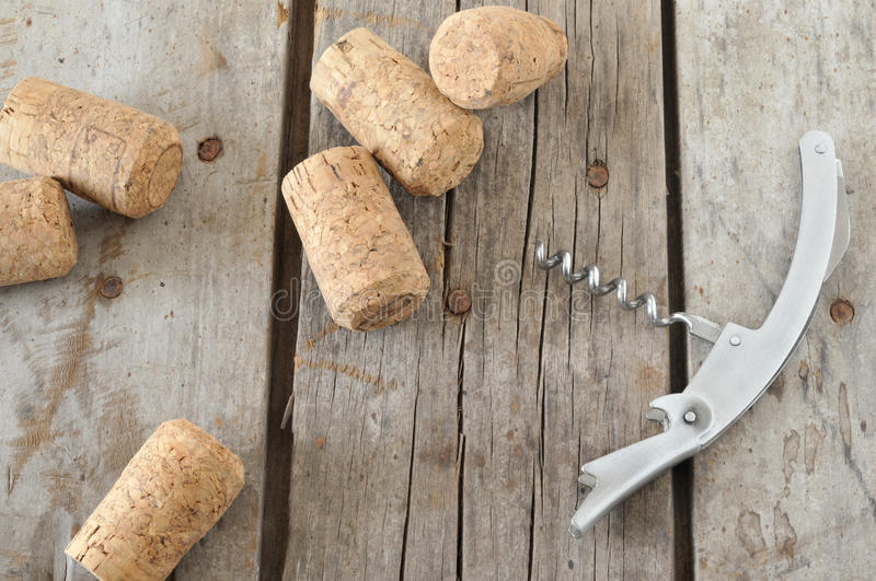 Download Corkscrew and corks stock photo. Image of corks, wooden - 25770896