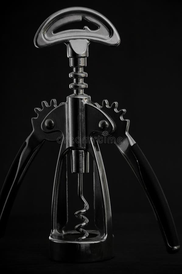 Corkscrew do metal foto de stock