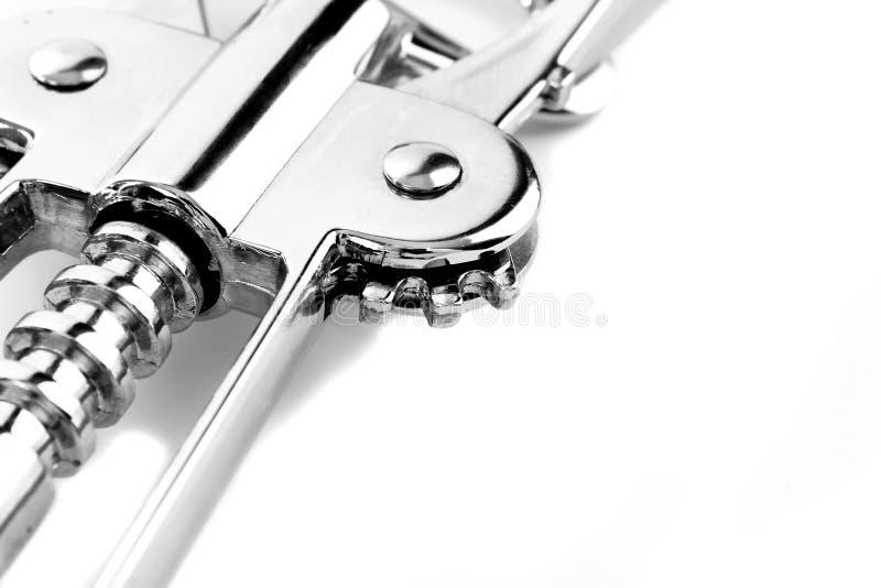 Corkscrew mechanism detail stock photography