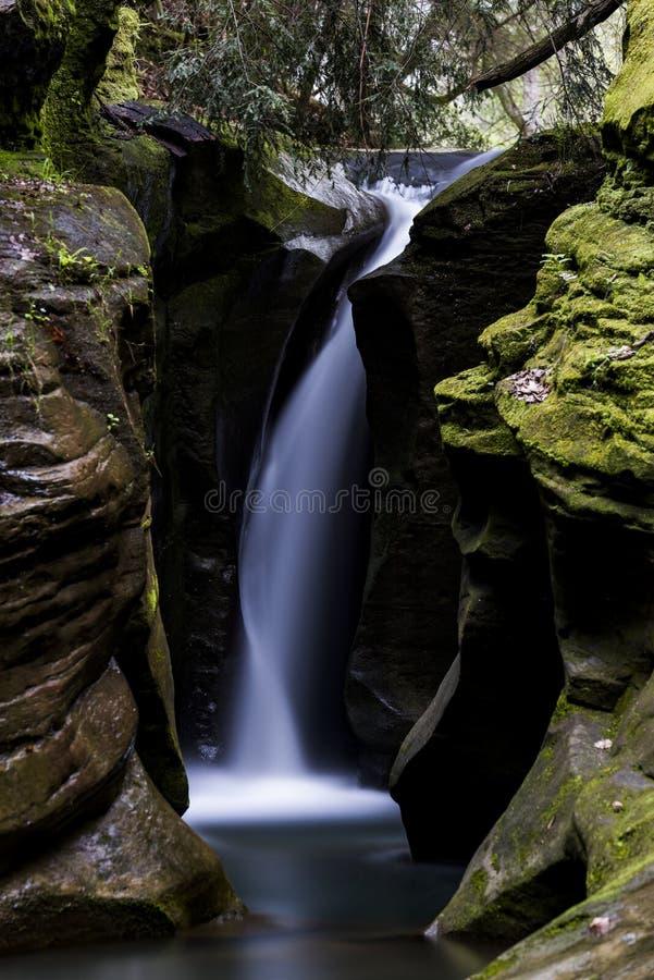 Corkscrew spadki - Boch stanu natury Dudniąca prezerwa, Ohio fotografia stock