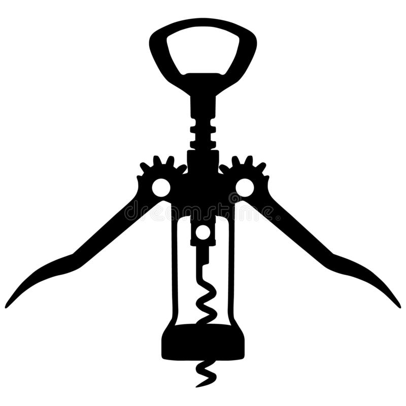 Corkscrew vector eps illustration by crafteroks royalty free illustration