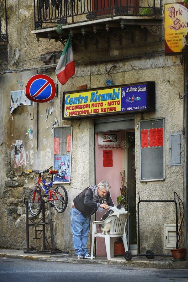 corleone sicilië Italië stock foto's