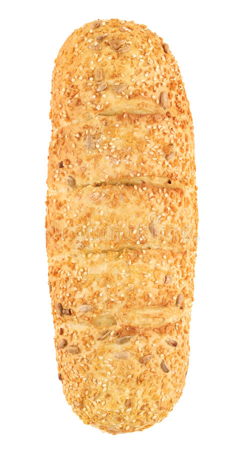 Corn Bread With Sesame And Sunflower Seeds stock photos