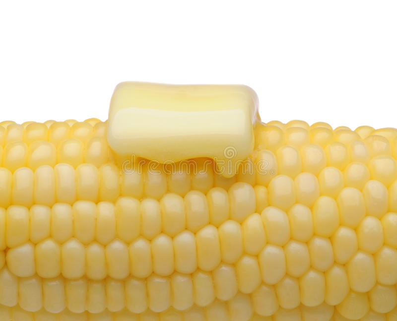 Corn and Butter Closeup royalty free stock images