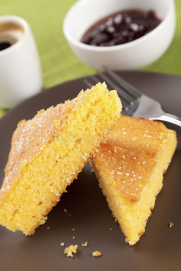 Download Corn Cake With Jam And Coffee Stock Photo - Image: 24905460