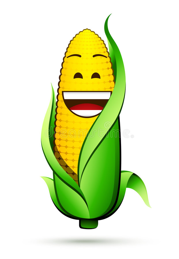 Corn on the cob character stock illustration