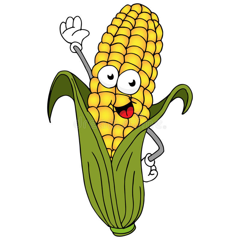 Corn On The Cob Character royalty free illustration