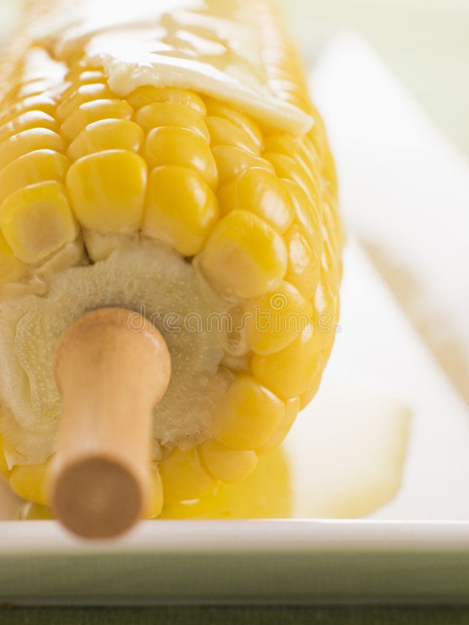 Corn on the Cob with Melted Butter stock images