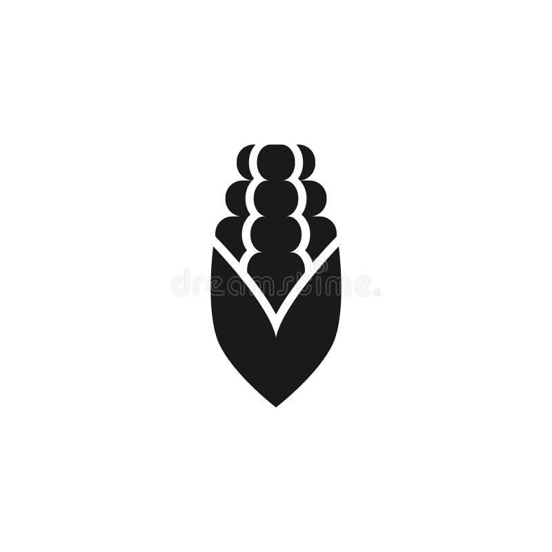 Corn cob vector simple icon. stock illustration